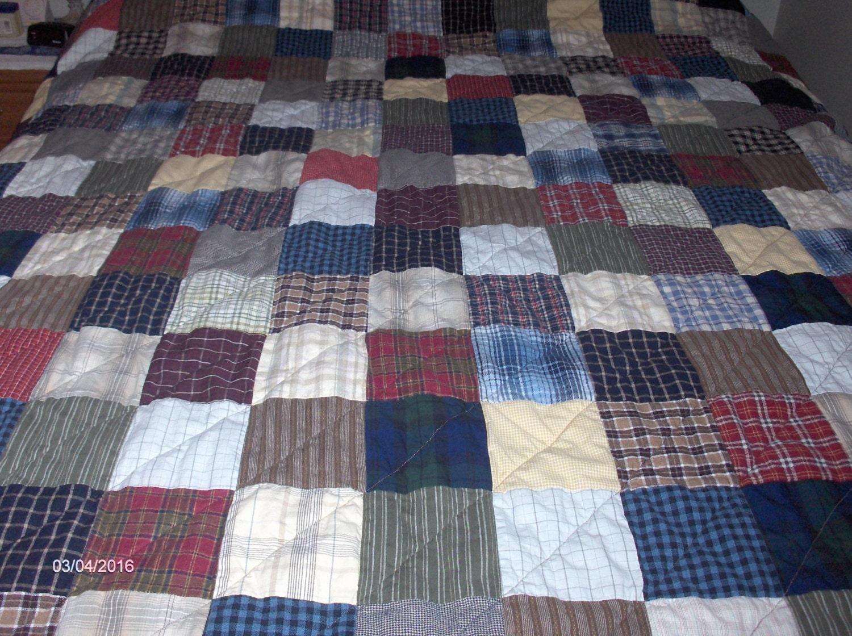 Farmhouse Style Plaid Quilt Twin Size Flannel Back
