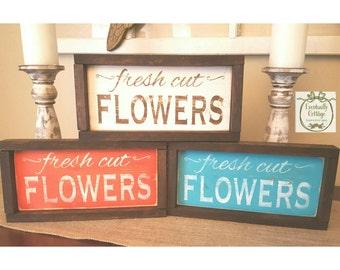 Handpainted Fresh Cut Flowers sign