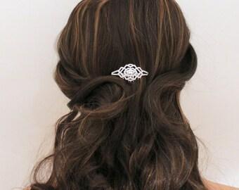 Rose Gold Bridal hair comb, Rose Gold Wedding headpiece, Wedding hair accessory, Bridal headpiece, Crystal hair clip, Rhinestone hair comb