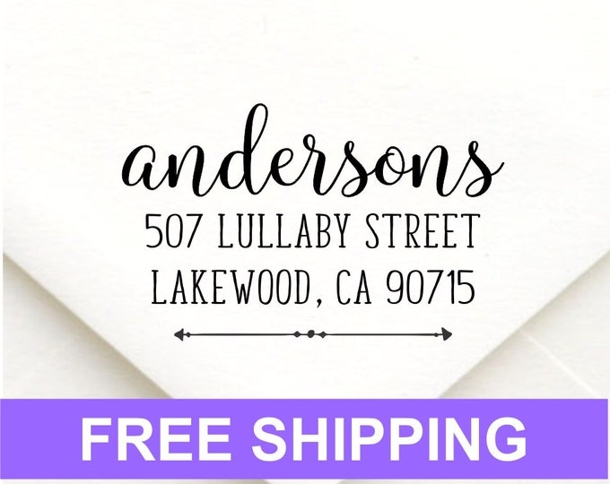 personalized self inking return address stamp wedding gift bridal shower gift realtor gift