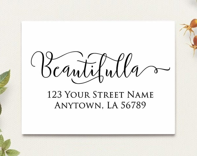 Self Inking Personalized Return Address Stamp - Custom Rubber Stamp R324