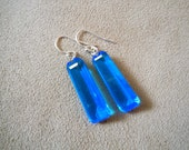 NEW Lagos -- Blue Topaz Earrings -- Sterling Hooks
