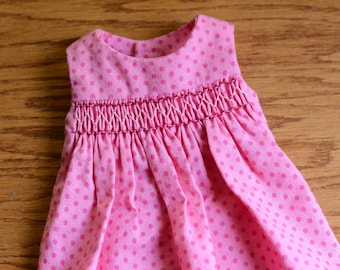 12 inch Waldorf Doll Dress Waldorf Doll Clothes Waldorf Doll Clothes - Pink Smocked