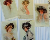 Philip Boileau and His Famous Hat Ladies Mischief Maker Passing Shadow All Adorned in Millinery Wonders Lot of 5