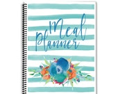 Meal Planner Notebook - Floral Watercolors