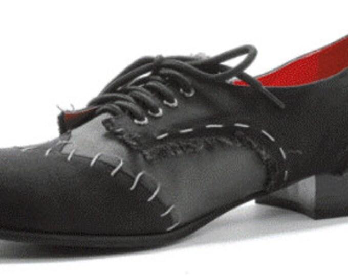Mens Zombie Shoe, Frankenstein Shoe, Costume Shoe, Tim Burton Shoe, Gray Oxford, Ghoul Shoe, Steam Punk Shoe, Size 8,9,12,13