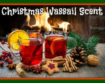 CHRISTMAS WASSAIL Scented Soy Wax Melts - Flameless Wickless Soy Candle Tarts - Highly Scented - Hand Poured - Handmade In USA