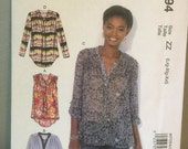 McCalls Sewing Pattern M7094 Misses Pullover Tops Size ZZ Large XLarge XXLarge