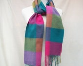 Spring Sale Colorful Cashmere Scarf Scotland Pure Cashmere Fringed Scarf