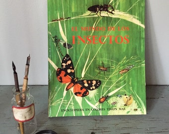 Vintage SPANISH childrens illustrated insect book