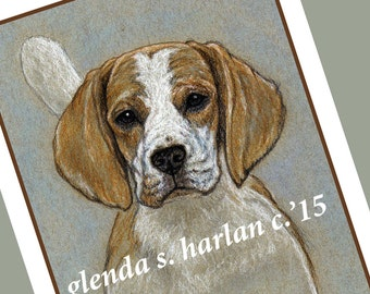 Beagle Hound Dog Fine Art Note Cards - PACK of EIGHT