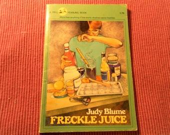 Freckle Juice by Judy Blume vintage paperback 1983