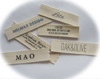 Name Clothing labels, Sew in labels for your Name,  Boutique or shop name