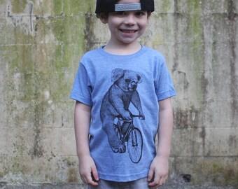 Koala on a Bicycle - Kids T Shirt, Children Tee, Tri Blend Tee, Handmade graphic tee, sizes 2-12