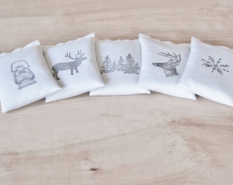 Balsam Fir Drawer Sachets, Gifts for Him, Mens Gift for Husband, Dad, Winter Woodland Wedding