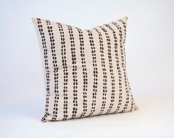 Tribal Pillow, throw pillows, pillow cover, fair trade, decorative pillows, pillow cases, screen print, screenprint, coffee bean, PWC-004