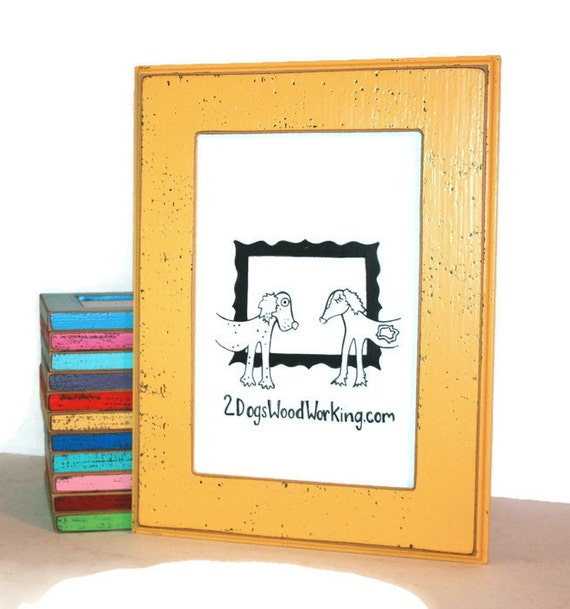 Picture frame 24x36 large wall frame Colored frame rustic