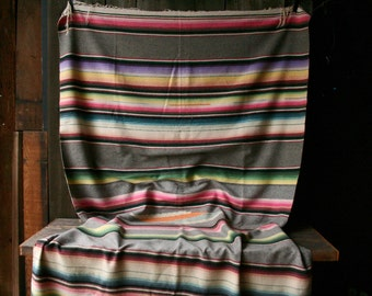 Vintage Saltillo Blanket Wool Mexican Textile Woven Bedspread Southwest Style Bedding And Furniture Cover Vintage From Nowvintage on Etsy
