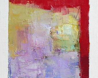 Apr. 14, 2016 - Original Abstract Oil Painting - 9x9 painting (9 x 9 cm - app. 4 x 4 inch) with 8 x 10 inch mat