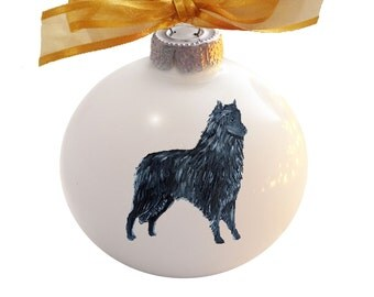 Belgian Sheepdog Hand Painted Christmas Ornament - Can Be Personalized with Name