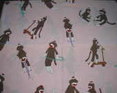 Funky Monkey Fabric By Moda   Jumbo Monkeys Playing    1 yard cut  Discontinued Print!!