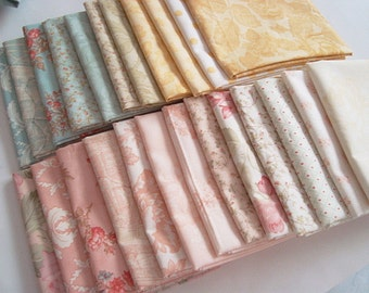 3 Sisters  Paris Flea Market Printemps and Whitewashed for Moda  fat quarter set
