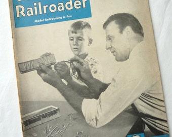 Vintage Model Railroader Magazine, April 1950, MOM, Craft Magazine, Railroad Magazine, Vintage Ads, Railroad Patterns, Information, Paper