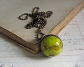 Glass Shooter Marble  Long Necklace One of a Kind Jewelry Sale