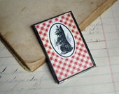 Scotty Dog Vintage Playing Card Pin Repurposed Jewelry