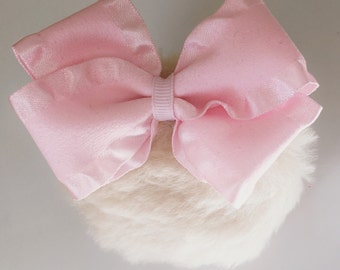 Light Brown Bunnytail with Pink Bow Easter Photography Prop