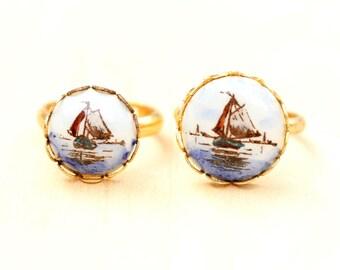 Vintage Ship Ring