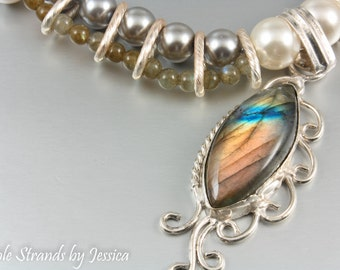 Labradorite Elegance Beaded Necklace