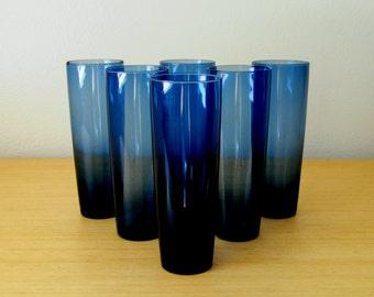 tapio wirkkala iittala tall blue tumblers