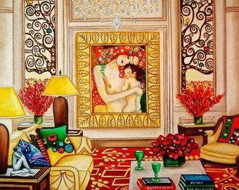 Klimt Print, Gustav Klimt, Fine Art Print, Wall Art Home Decor, Art Print