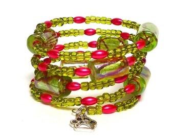 BLOOM Coil Beaded Bracelet by Beading Divas Fundraiser