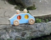 Wooden Toy Car - Sedan with 2 people