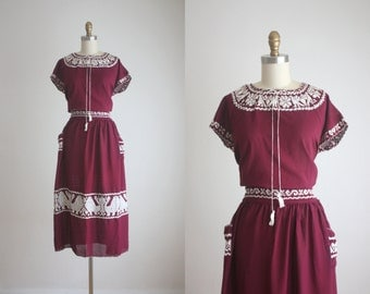 1950s guatemalan dress set