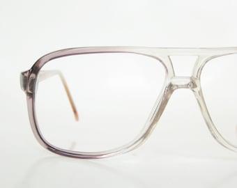 Vintage 1980s Mens Aviator Eyeglasses Glasses Sunglasses 80s Oversized Guys Men Homme Handsome Deadstock Vintage NOS Old Stock Hip Hop Style