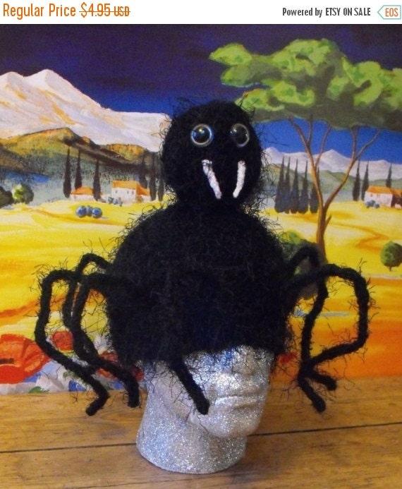 HALF PRICE SALE Digital pdf download Knitting Pattern - Spinderella Spider Beanie Hat pdf download knitting pattern