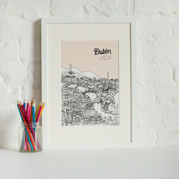 Personalised Wedding Gifts Dublin : Personalised Dublin Print Dublin Picture Unique Wedding Gift ...