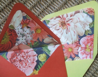 Just Envelopes - Floral Blooms Lined (Set of 10)