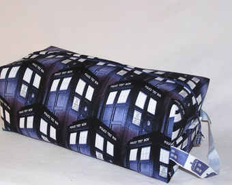 Packed Tardis Sweater Bag with Tardis Ribbon and Charm - Premium Fabric