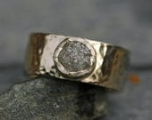Final Payment- 14k White Gold and Raw Diamond Ring