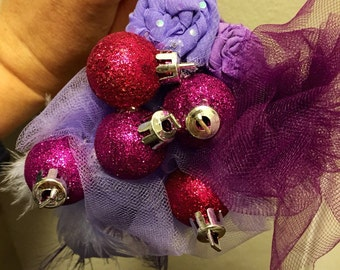 Lavendar and Pink Christmas Bauble Headband
