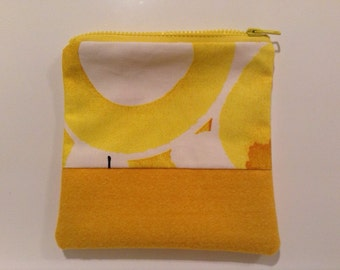 Bold Yellow Graphic Zippy Pouch