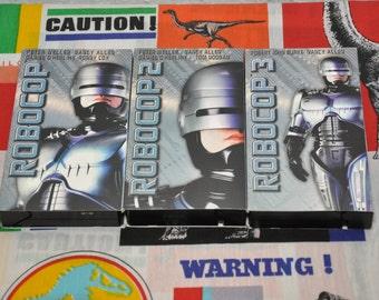 Robocop Collection 3 VHS tapes 80's Action Movies Peter Weller Nancy Allen