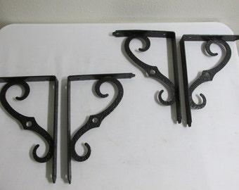 Black Metal Shelf Brackets set of 4