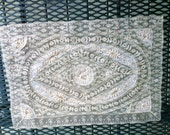 "12""x17"" Normandy Hand made lace placemat dresser scarf doily  freshly laundered NU ex codition"