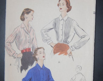 Vogue 7807 Vintage Sewing Pattern Ladies Blouse Sale