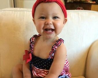 LOLA - red turban knot headband